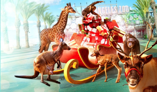 Our work with The LA Zoo - Reindeer Romp + LA Lights